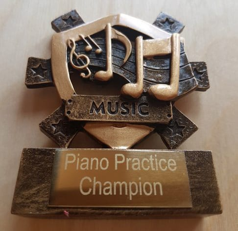 Piano Practice Champion: Summer Term Second Half